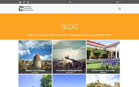 Screenshot of Blog ndsas.sk - Blog - captured Oct. 27, 2017