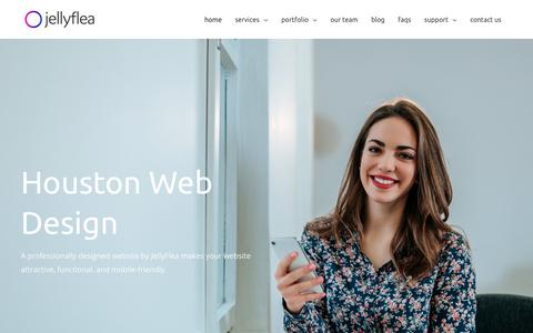Screenshot of Home Page jellyflea.com - JellyFlea Creative - Houston Web Design Company - captured June 21, 2019