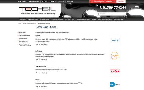 Screenshot of Case Studies Page techsil.co.uk - Techsil Case Studies | Techsil - captured Dec. 22, 2016