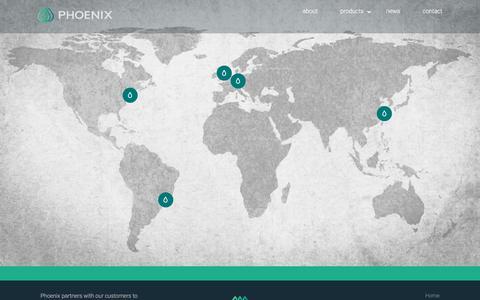 Screenshot of Contact Page phoenixaromas.com - Phoenix - Locations & Contact - captured Sept. 11, 2019