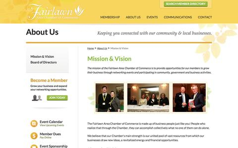 Screenshot of About Page fairlawnareachamber.org - Fairlawn Area Chamber of Commerce Mission - captured Jan. 3, 2017