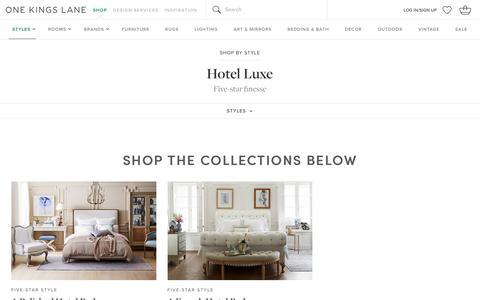 Hotel Luxe | One Kings Lane                                           One Kings Lane
