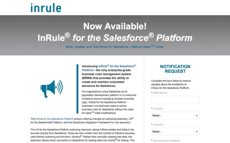 InRule for the Salesforce Platform - Notification Request
