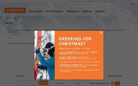 Screenshot of Press Page seirus.com - Media - captured Dec. 20, 2018
