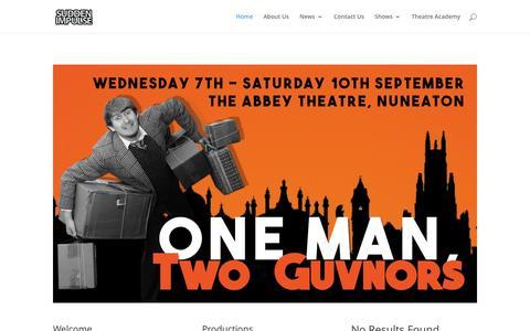 Screenshot of Home Page suddenimpulse.co.uk - Sudden Impulse Theatre Company | Act On Impulse - captured Dec. 3, 2016