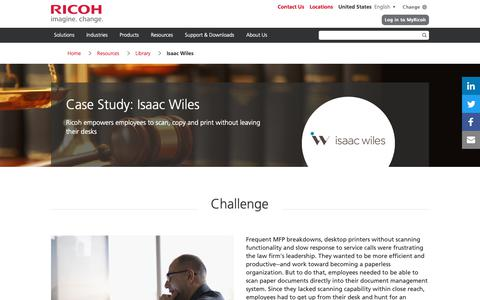 Screenshot of Case Studies Page ricoh-usa.com - Isaac Wiles - captured Jan. 3, 2019