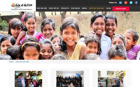 Screenshot of Signup Page aea-southasia.org - Aide et Action | NGO working on education - captured Oct. 3, 2018