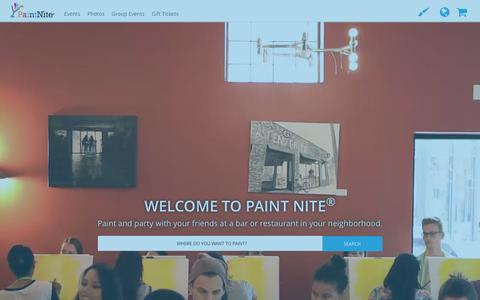 Screenshot of Home Page paintnite.com - Paint Nite | Drink Creatively - captured Jan. 24, 2016