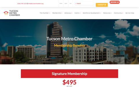 Screenshot of Signup Page tucsonchamber.org - Join — Tucson Metro Chamber - captured Oct. 18, 2018