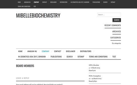 Board Members – Mibellebiochemistry