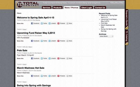 Screenshot of Press Page total-contact.com - News | Total-Contact - captured Oct. 7, 2014
