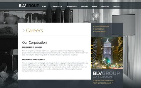 Screenshot of Jobs Page blvgroup.com - Careers - Our Corporation - captured Oct. 5, 2014