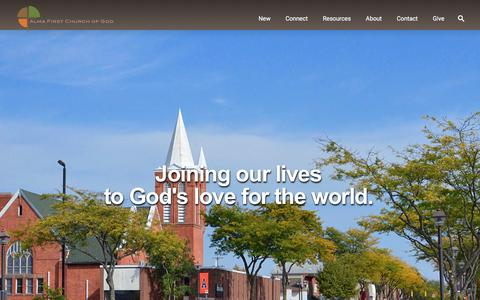 Screenshot of Home Page almacog.org - Alma First Church of God - captured Nov. 20, 2016