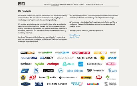 Screenshot of Products Page c2.se - C2 – C2 Products - captured Oct. 1, 2014