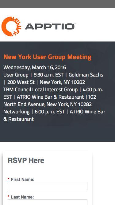 New York User Group Meeting