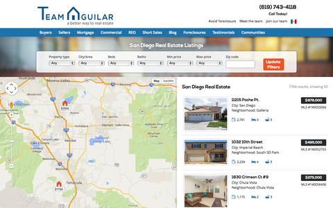 Screenshot of Maps & Directions Page teamaguilar.com - San Diego Homes for Sale Map - Team Aguilar - captured Oct. 27, 2014