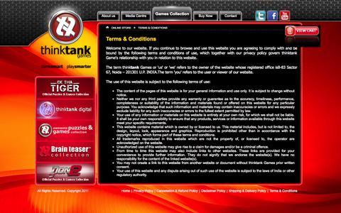 Screenshot of Terms Page enterthetank.com - Thinktank Games - thinksmart... playsmarter... - captured Oct. 6, 2014
