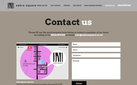 Screenshot of Contact Page zebrasquare.co.uk - Contact Our Market Research Agency | Zebra Square Ltd - captured Oct. 18, 2018