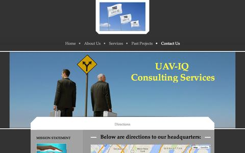Screenshot of Maps & Directions Page uaviqconsulting.com - - Directions - captured Oct. 29, 2014