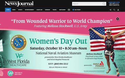 Screenshot of Home Page pnj.com - Home | Pensacola News Journal | pnj.com - captured Oct. 5, 2015