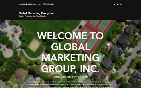 Screenshot of Home Page global-mkgt.com - Home | Global Marketing Group, Inc. - captured July 11, 2017