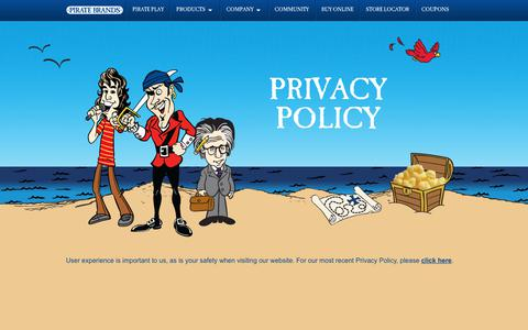 Screenshot of Privacy Page piratebrands.com - Privacy Policy | Pirate Brands - captured July 13, 2018