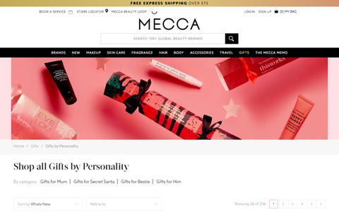 Shop Gifts - Gifts by Personality | MECCA