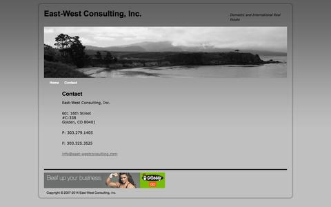Screenshot of Contact Page east-westconsulting.com - Contact | East-West Consulting, Inc. - captured Oct. 6, 2014