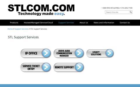 Screenshot of Services Page stlcom.com - STL Support Services   STL Communications, Inc. - captured Sept. 30, 2018