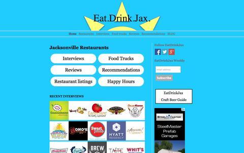 Screenshot of Home Page eatdrinkjax.com - Jacksonville Restaurant Guide. Recommendations, reviews & interviews - captured Sept. 29, 2014