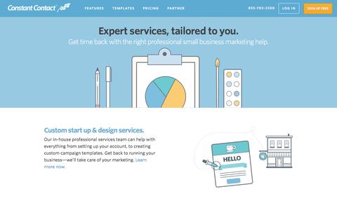 Screenshot of Services Page constant-contact.com - Small Business Marketing Services | Constant Contact - captured April 1, 2016
