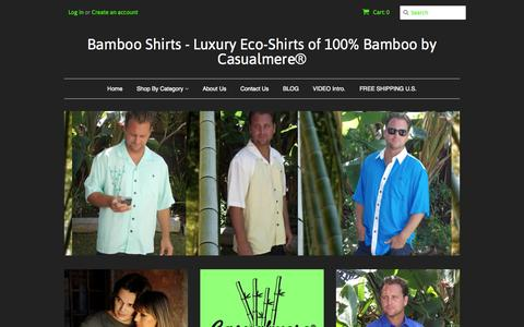 Screenshot of Home Page casualmere.com - Bamboo Shirts - Luxury Eco-Shirts from 100% Bamboo. – Bamboo Shirts - Luxury Eco-Shirts of 100% Bamboo by Casualmere® - captured Jan. 23, 2015