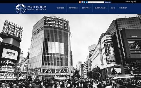 Screenshot of Home Page prgadvisory.com - Pacific Rim Global Advisory – Business Consulting – Jonathan Beutler - captured Oct. 1, 2014