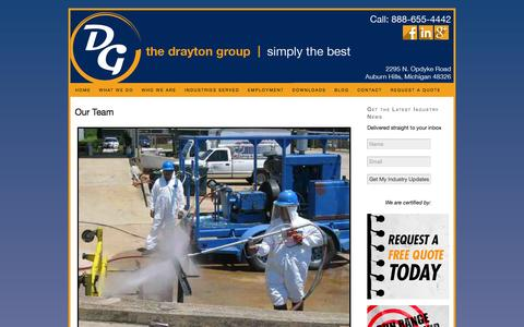 Screenshot of Team Page draytongroupinc.com - Drayton Group Team Members | Staff - captured Sept. 30, 2014