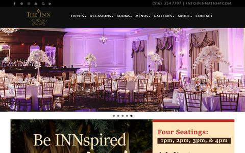 Screenshot of Home Page innatnhp.com - Inn at New Hyde Park - captured Oct. 11, 2018