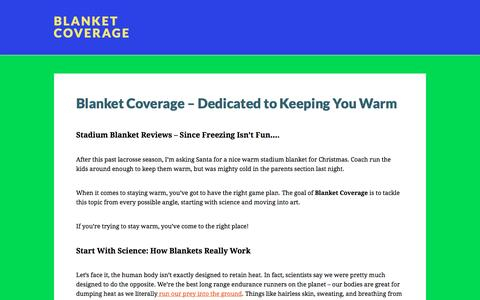 Screenshot of Home Page sports-blankets.com - Blanket Coverage | Your Guide to Staying Warm For Less - captured April 9, 2017