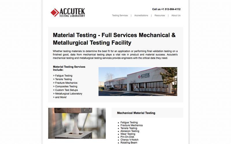 Material Testing Laboratory | Accutek Testing Laboratory