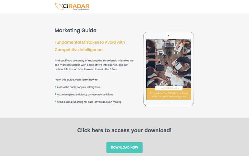Marketing Intelligence Mistakes to Avoid | CI Radar