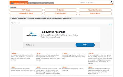 Screenshot of Home Page routeripaddress.com - Router IP Address - Router Default IP Address, Router Default Username, Router Default Password - captured Sept. 24, 2018