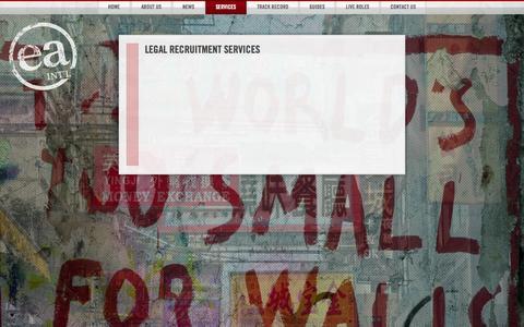 Screenshot of Services Page ea-int.com - Legal Recruitment Services   EA International - captured Oct. 1, 2014