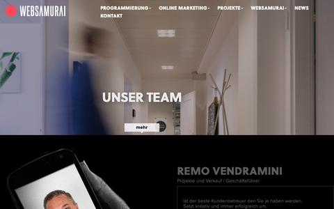 Screenshot of Team Page websamurai.ch - Unser Team - Websamurai AG Ihre Webagentur in Aarau + Zürich - captured Nov. 19, 2018