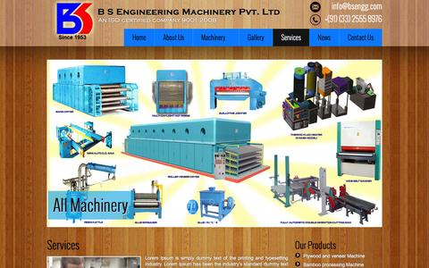 Screenshot of Services Page bsengg.com - B S Engineering Machinery Pvt. Lt - captured Jan. 31, 2016