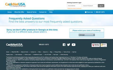 FAQ | CashNetUSA