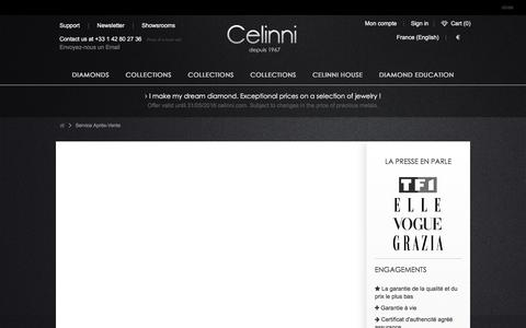 Screenshot of Support Page celinni.com - Service Après-Vente - Celinni Steinberg International - captured July 11, 2016