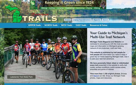 Screenshot of Home Page mitrails.org - Michigan Trails | Home Page Michigan Trails - captured Feb. 17, 2018