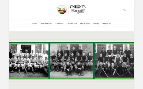 Screenshot of Team Page oneonta.com - Our Team — ONEONTA STARR RANCH GROWERS - captured Jan. 11, 2018