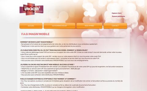 Screenshot of FAQ Page imaginmobile.fr - Imagin'Mobile | FAQ - captured June 7, 2017