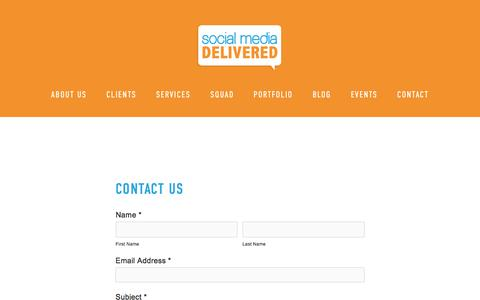 Contact — Social Media Delivered