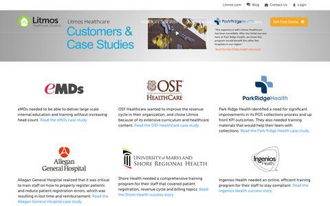 Screenshot of Case Studies Page litmos.com - Customers & Case Studies - Litmos - captured Jan. 23, 2018