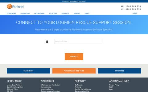 Screenshot of Support Page fishbowlaustralia.com.au - Support Services | Fishbowl Inventory Management Software - captured Aug. 14, 2018
